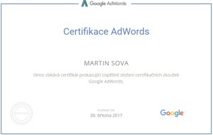 Certifikace Google Adwords