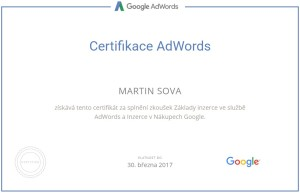 Certifikace Google Nákupy (Shopping)