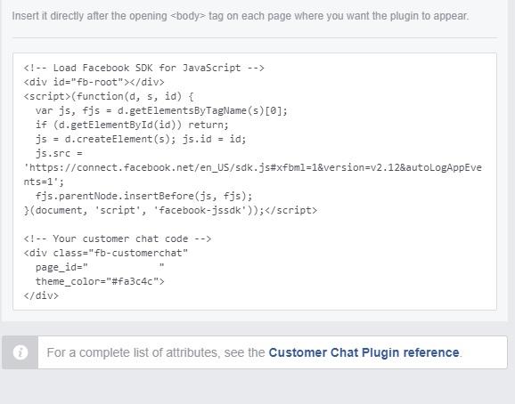 facebook chat: kód