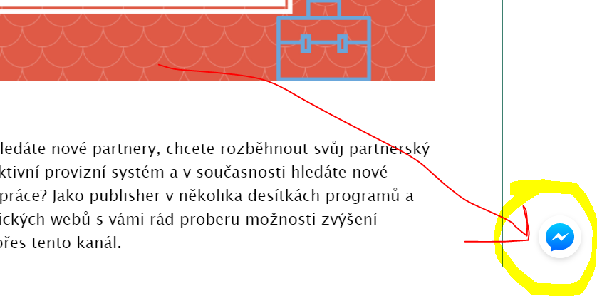 messenger na web: tlačítko