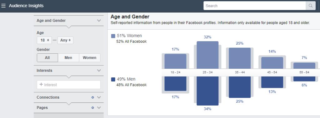 facebook audience insights - využití
